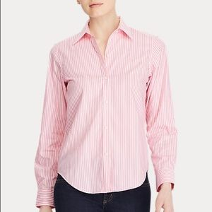 Ralph Lauren Pink & White Stripe Button Down